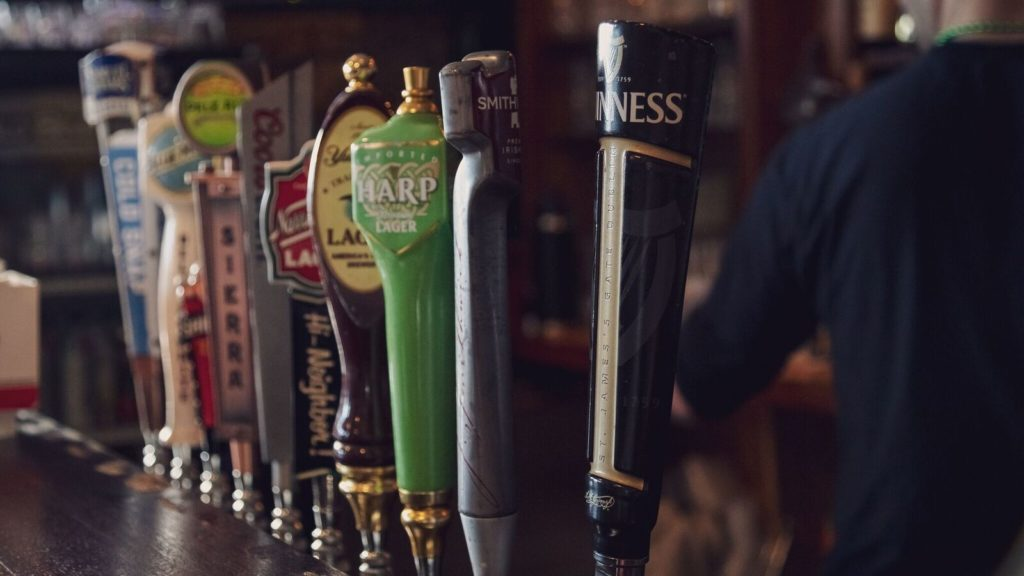 Beers on tap at Aidan's